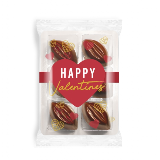 Valentines – Flow Wrapped Tray – Cocoa Bean Truffles